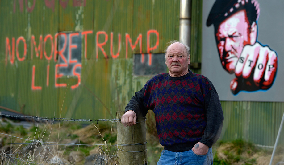 Michael Forbes was one of several residents who stood up to Donald Trump's bullying tactics on the Menie Estate in Aberdeenshire (Jeff J Mitchell/Getty Images)